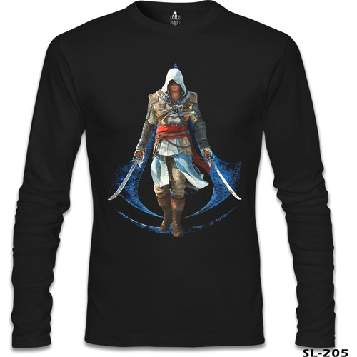 Lord T-Shirt Assassin's Creed 6 Siyah Erkek T-Shirt