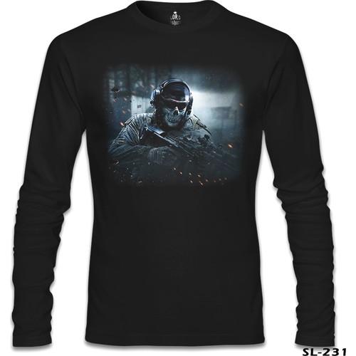 Lord T-Shirt Call Of Duty - Cod Ghosts Siyah Erkek T-Shirt