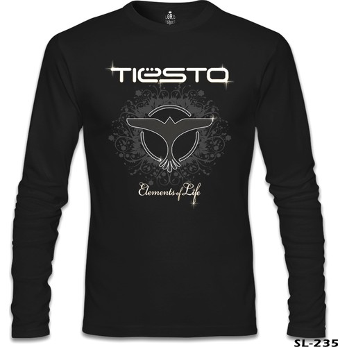 Lord T-Shirt Dj Tiesto - Elements Of Life Siyah Erkek T-Shirt