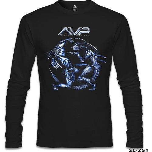 Lord T-Shirt Alien Vs Predator Siyah Erkek T-Shirt