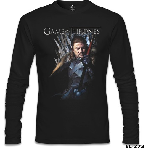 Lord T-Shirt Game Of Thrones - Ned Stark Siyah Erkek T-Shirt