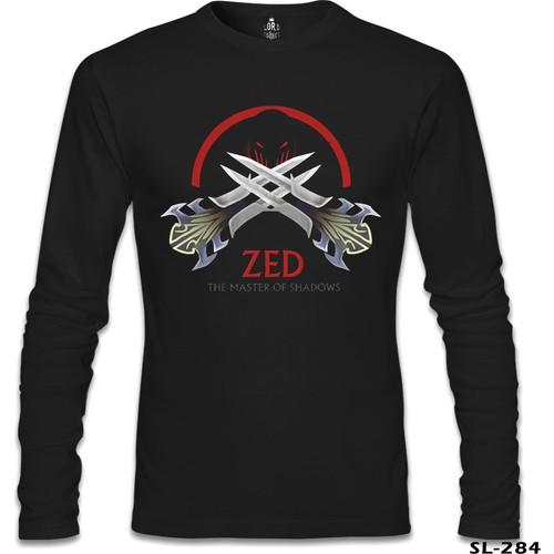 Lord T-Shirt League Of Legends - Zed Sign Siyah Erkek T-Shirt