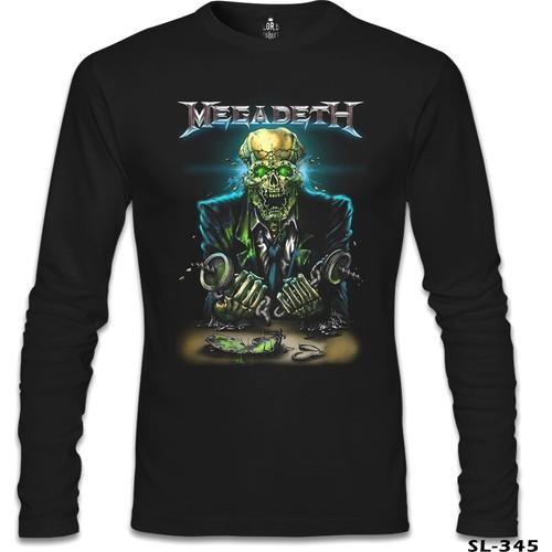 Lord T-Shirt Megadeth - Vic 4 Siyah Erkek T-Shirt