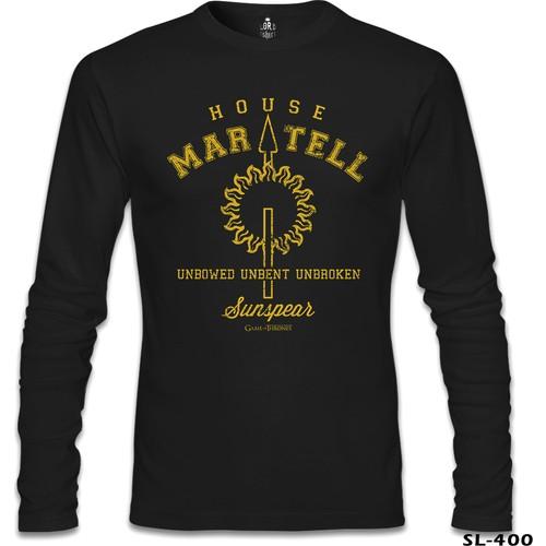 Lord T-Shirt Game Of Thrones - House Martell Siyah Erkek T-Shirt