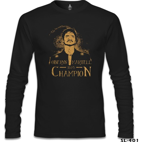 Lord T-Shirt Game Of Thrones - Oberyn Martell Siyah Erkek T-Shirt