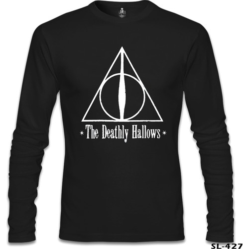 Lord T-Shirt Harry Potter - The Deathly Hallows Siyah Erkek T-Shirt