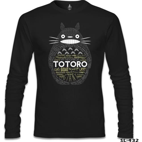Lord T-Shirt Totoro Siyah Erkek T-Shirt