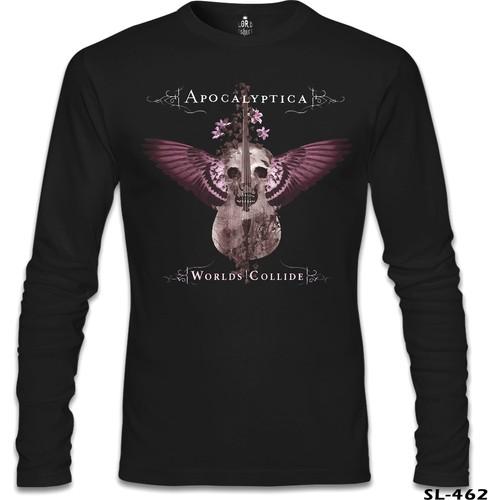 Lord T-Shirt Apocalyptica - Worlds Collide Siyah Erkek T-Shirt