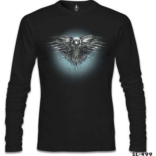 Lord T-Shirt Game Of Thrones - Night Crow Siyah Erkek T-Shirt