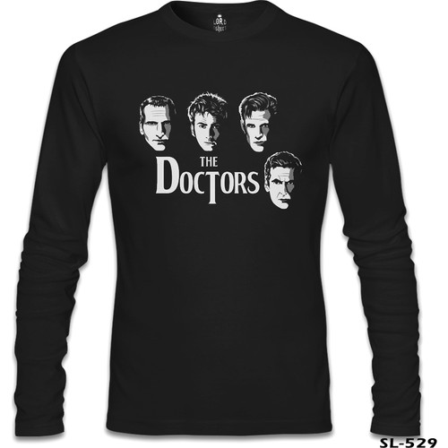 Lord T-Shirt Doctor Who - The Doctors Siyah Erkek T-Shirt
