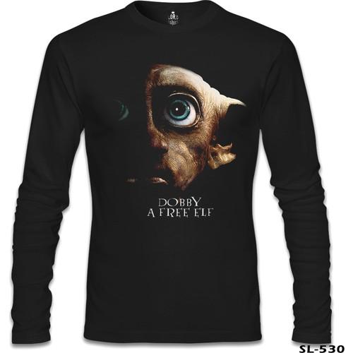 Lord T-Shirt Harry Potter - Doby Free Elf Siyah Erkek T-Shirt