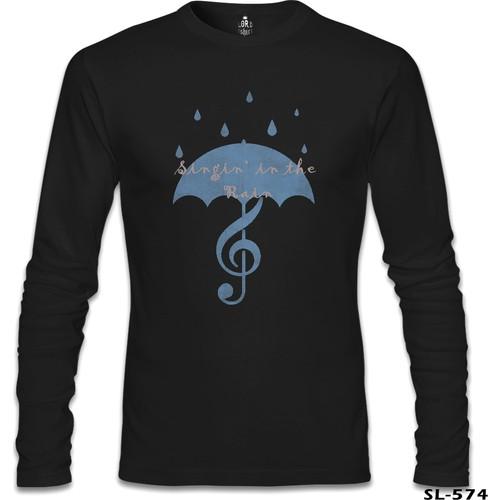 Lord T-Shirt Singin In The Rain - 2 Siyah Erkek T-Shirt
