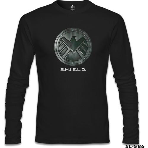 Lord T-Shirt S.H.I.E.L.D Siyah Erkek T-Shirt