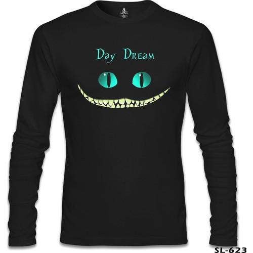 Lord Sweatshirt Alice İn Wonderland - Cat Siyah Erkek Sweatshirt