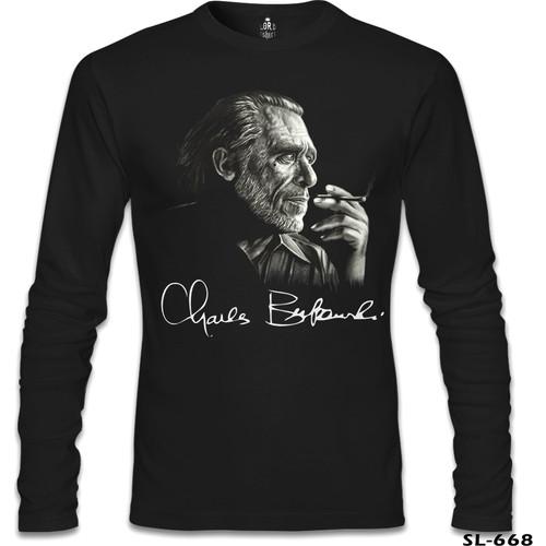 Lord T-Shirt Charles Bukowski Siyah Erkek T-Shirt