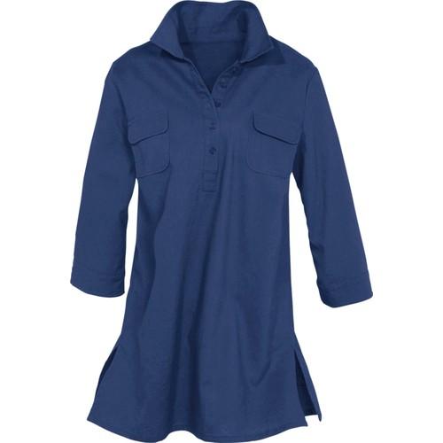 bonprix Mavi Keten Tunik Bluz 34-54 Beden