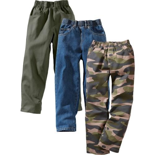 """bonprix Jeanswear Yeşil Bol Pantolon (3""""Lü Paket) Xxl 34-54 Beden"""