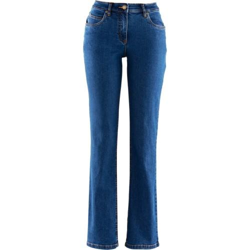 bonprix Streç Jean Straight Kısa Mavi