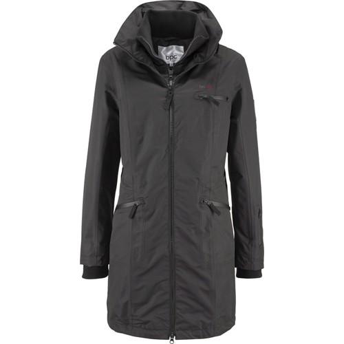 bonprix Kapüşonlu Fonksiyonel Outdoor Ceket 2'Li Görünümde Siyah