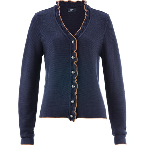 Bpc Bonprix Collection Geleneksel Alman Stili Fırfırlı Hırka Mavi