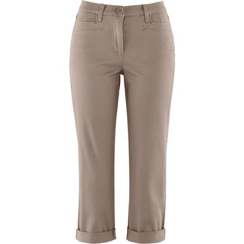 Bpc Bonprix Collection Kahverengi Bilek Boy Streç Pantolon 34-54 Beden