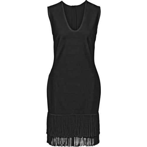 Bonprix Siyah Püsküllü Elbise 34-54 Beden