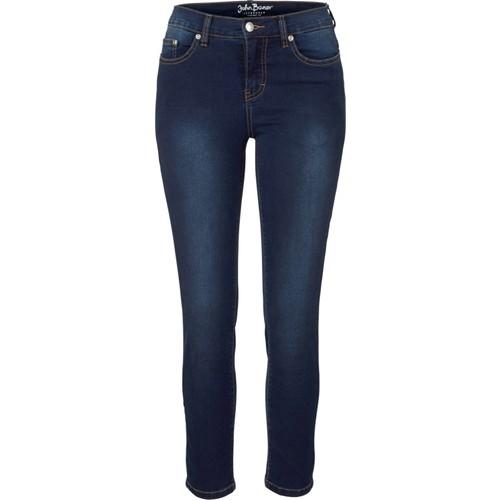 Bonprix John Baner Jeanswear 7/8 Paça Power Streç Jean Normal Mavi