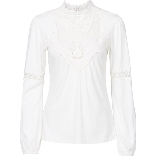 Bonprix Bodyflirt Beyaz Olmazsa Olmaz Dantelli Bluz 34-54 Beden