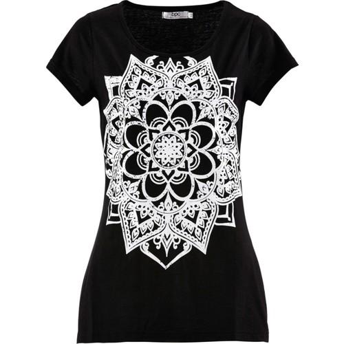Bpc Bonprix Collection Siyah Kısa Kollu T-Shirt 34-54 Beden