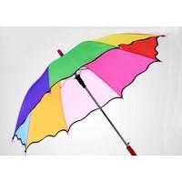 İstoç Toptan Kız Çocuk Gökkuşağı Renk Şemsiye