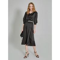 People By Fabrika Kadın Degaje Yakalı Elbise