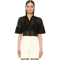 Network Kadın Regular Fit Siyah Gömlek