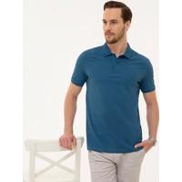 Pierre Cardin Erkek Mavi Slim Fit T-Shirt 50225515-VR028