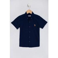 U.S. Polo Assn. Erkek Çocuk Lacivert Gömlek Kısakol 50219401-VR033