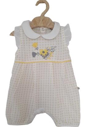 For My Baby Leyd Kız Bebek Yazlık Sarı Barbatöz Tulum