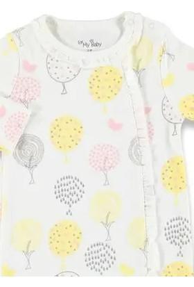 For My Baby Kız Bebek Renkli Yapraklar Patikli Tulum