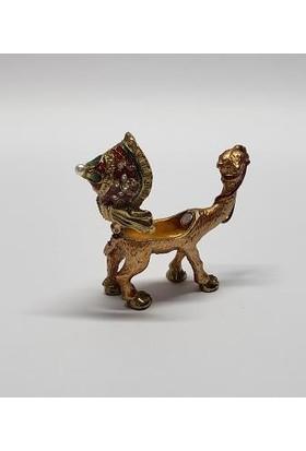 Mrc Swaroski Taşlı Deve Tasarım Mücevher Kutu Biblo+Süpriz Hediye