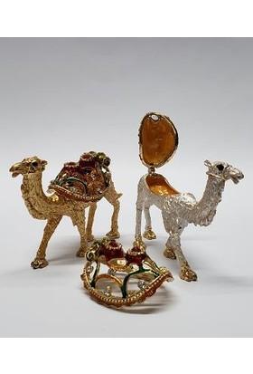 Mrc Swaroski Taş Işlemeli 2li Deve Mücevherlik Biblo+Süpriz Hediye