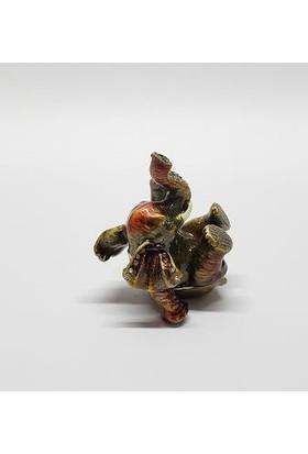 Mrc Swaroski Taşlı Şımarık Fil Mücevher Kutusu Biblo+Süpriz Hediye