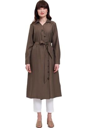Mizalle Çapraz Düğmeli Elbise