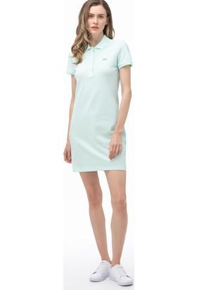 Lacoste Kadın Polo Yaka Kısa Kollu Açık Mavi Elbise EF5473.WXH