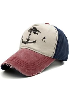 Ejoya Çapalı Eskitme Erkek Denizci Şapka