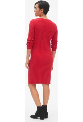 Gap Yün Karışımlı Sıfır Yaka Kazak Elbise