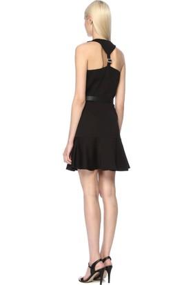 Network Kadın V Yaka Siyah Elbise
