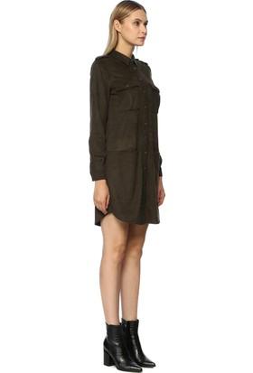 Network Kadın Mini Boy Haki Elbise