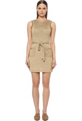 Network Kadın Altın Rengi Mini Elbise