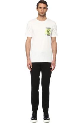 Network Erkek Slim Fit Beyaz Tshirt