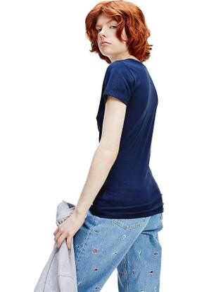 Tommy Hilfiger Kadın T-Shirt Dw0Dw08061-C87