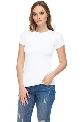 Tutku Elit Kadın Elastan Yarım Kol T-Shirt
