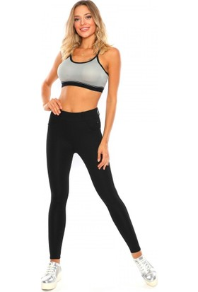 Mojerhermosa Siyah Pantolon Görünümlü Kadın Tayt